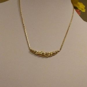 Christian Dior Crystal Gold Tone Necklace